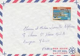 SENEGAL 1977 - 65 F Sondermarke Auf LP-Brief Gel.v.Senegal > Avignon France - Senegal (1960-...)