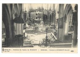 Cp, 54, Nomeny, 1914-1915 - Intérieur De L'Eglise, écrite 1915 - Nomeny