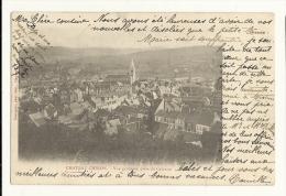 Cp, 58, Chateau-Chinon, Vue Générale, Prise Du Calvaire, Voyagée 1903 - Chateau Chinon