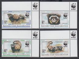 (WWF-211) W.W.F. Kazakhstan MNH Polecat / Cat Stamps 1997 - W.W.F.