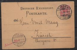 S256.-.GERMANY REICH .-. CARD.-. SINGEN 21-9-32 TO ZURICH. STAMP EAGLE 10 PF. - Deutschland