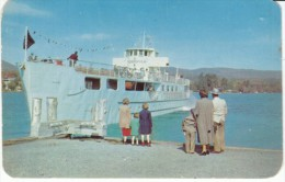 MV Ticondergoga Steam Ship Lake George Village New York, C1940s/50s Vintage Postcard - Dampfer