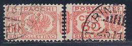 Italy, Scott # Q29 Used Parcel Post, Part 1 & Part 2, 1927 - 1900-44 Vittorio Emanuele III