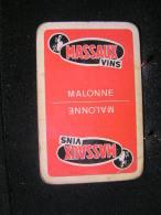 Playcard/Dos De Carte A Jouer-1 Cartes Avec Publicitè, Massaux Vins,  MALONNE , Belgique - Non Classés