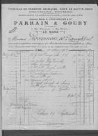 Le Mans.Parrain & Gouby,Droguerie Pharmaceutique Pour Mr Giovannoni à Putanges - Chemist's (drugstore) & Perfumery