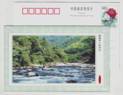 Gorge Stream River,China 2000 Lin´an Headstream Of Taihu Scenic Spot Landscape Advertising Pre-stamped Card - Holidays & Tourism