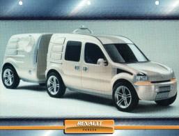 RENAULT PANGEA   /   FICHE TECHNIQUE VOITURE FORMAT A4  VOIR DOS  2 SCAN DÉTAILS CARACTÉRISTIQUES - Cars
