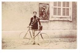 Carte Photo En Bon état Cycliste 1912 - Ganges