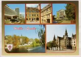 Halle , Hotel Stadt Halle - Gasthof Goldene Rose - Goldenes Schlößchen - Theater - An Der Saale - Gerichtsgebäude - Halle (Saale)