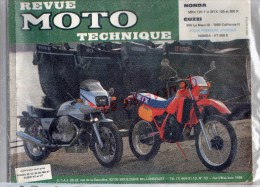 REVUE MOTO TECHNIQUE - HONDA MBX 125 F- MTX 125- 200R-  GUZZI  850 LE MANS III- 1000 CALIFORNIA II-HONDA VT 500 E - Motos