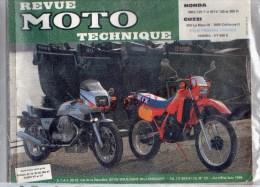 REVUE MOTO TECHNIQUE - HONDA MBX 125 F- MTX 125- 200R-  GUZZI  850 LE MANS III- 1000 CALIFORNIA II-HONDA VT 500 E - Motor Bikes