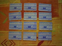 Lottlc1 -  Lot De 12 Télécartes Anciennes ISRAEL - Israel