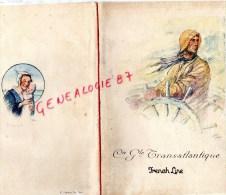"""MENU CGT- PAQUEBOT TRANSATLANTIQUE """" ILE DE FRANCE """" 1931- BLANCART COMMANDANT- FETE BIENFAISANCE CHARITY FETE - Menus"""