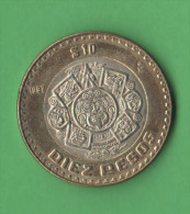 Messico Mexico 10 Nuovi Pesos 1997  Bimetallici - Messico