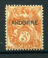ANDORRE  FRANCAIS  (POSTE)  : Y&T  N° 4  TIMBRE  NEUF  AVEC  TRACE  DE  CHARNIERE ,  A  VOIR .