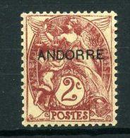 ANDORRE  FRANCAIS  (POSTE)  : Y&T  N° 3  TIMBRE  NEUF  AVEC  TRACE  DE  CHARNIERE ,  A  VOIR .