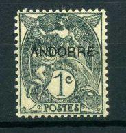 ANDORRE  FRANCAIS  (POSTE)  : Y&T  N° 2  TIMBRE  NEUF  AVEC  TRACE  DE  CHARNIERE ,  A  VOIR .