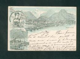 Suisse BE - Gruss Aus Berner Oberland - Interlaken ( Chromo Lithographie Heinrich Schlumpf) - BE Berne