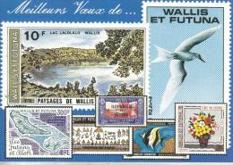 Meilleurs Voeux De..Wallis Et Futuna  (timbres Fictifs) - Wallis-Et-Futuna