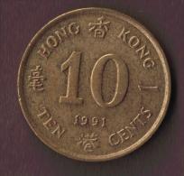 HONG KONG 10 CENTS 1991 - Hong Kong