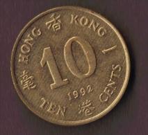 HONG KONG 10 CENTS 1992 - Hong Kong