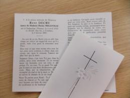 Doodsprentje Remi Decru Chalandray (FR) 6/4/1920 Komen 4/2/2001 ( Denise Milleville ) - Religione & Esoterismo