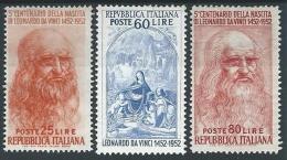 1952 ITALIA LEONARDO DA VINCI MH * - ED662 - 6. 1946-.. República