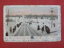 America > Toboggan  On Mount Royal    Has Stamp & Cancel         -ref 1433 - Montreal