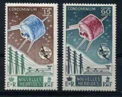 NEW  HEBRIDES   1965    I T U Centenary  AIR    Set  Of  2   MH - French Legend