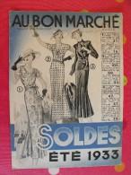 Catalogue Au Bon Marché (maison Boucicaut). Soldes été 1933. 24 Pages - Fashion