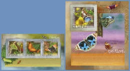 gu14211ab Guinea 2014 Butterflies 2 s/s