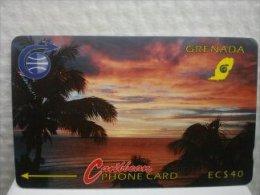 Phonecard Grenada Sunset Number 3CGRB Used - Grenada