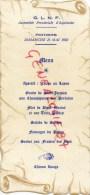 86 - POITIERS - MENU FRANC MACONNERIE - FRANC MACON - POITIERS DIMANCHE 23 MAI 1982-BERNARD NARDOT LIMOGES - Menus