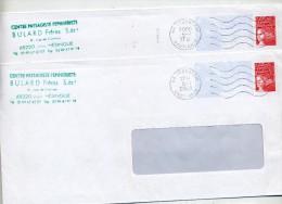 Pap Luquet Flamme Muette Hegenheim Curiosité Centre  Envers - Poststempel (Briefe)