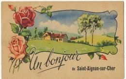 St Aignan Sur Cher   Un Bonjour Roses - Saint Aignan