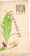 PAYS BAS- AMSTERDAM- BEAU MENU A L' AMERICAN HOTEL - PASEN 1951  25 MARS - Menus