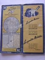 CARTE-ROUTIERE-MICHELIN-N °78-1951--BORDEAUX-BIARRITZ-B E - Cartes Routières