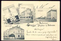 AK   JUDAIKA   JUDAICA    SYNAGOGUE  ----  BJELOVAR   -----    CROATIA   HRVATSKA  1899. - Judaisme
