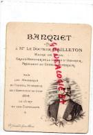 69 - LYON - TRES RARE MENU BANQUET OFFERT A DOCTEUR GAILLETON-MAIRE PDT CONSEIL -MAISON WATTEBLED -1895-M. BEAUVERIE - Menus