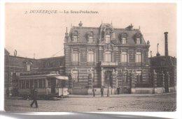 REF 180 CPSM 59 DUNKERQUE La Sous Préfecture Beau Plan Tramway - Dunkerque