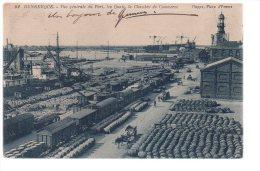 REF 180 CPA 59 DUNKERQUE Vue Générale Du Port Train Wagon - Dunkerque