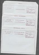 BELGIUM - Selection Of 3 Aerograms - 4.50 Fr - Different Languages - Ganzsachen