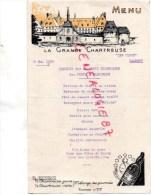 38 - LA GRANDE CHARTREUSE - MENU 19 MAI 1955-BANQUET ADJOINTS TECHNIQUES PONTS CHAUSSEES -LES FLOTS TALMONT-M. BOURREAU - Menus