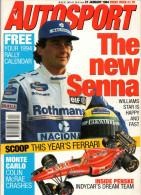 Autosport January 1994 The New Ayrton Senna Williams Special Focus Penske - Autorennen - F1