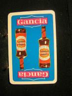 Playing Cards / Carte A Jouer / 1 Dos De Cartes, Inscription  Publicitaire / Apéritif Gancia - Playing Cards