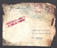 FRANCE 1969 Lettre Accidentée Crash Aérien Mai 1969 Avec Formulaire & Enveloppe Postale  Réexpédition - Storia Postale