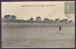 BARNEVILLE Sur MER     CPA     La Plage  -  Vue D Ensemble   Le 4 4 1924   ANIMEE - Barneville