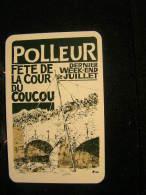 Playing Cards / Carte A Jouer / 1 Dos De Cartes, Inscription  Publicitaire / Liège: Polleur, Fête De La Cour Du Coucou - Non Classés