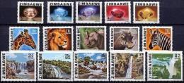 ZIMBABWE FAUNE, CHUTES D´EAU, MINERAUX Yvert 1/15  ** MNH, Neuf Sans Charniere - Zimbabwe (1980-...)