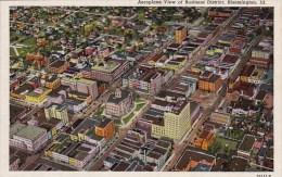 Illinois Bloomington Aerplane View Of Business District - Sonstige